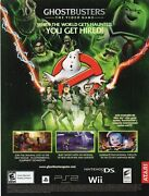 2009 Ghostbusters The Video Game Nintendo Wii Playstation Ps2 Nds Rare Print Ad