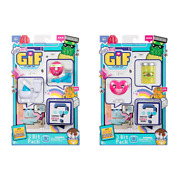 Lot Of 2 - Oh My Gif - Pickle Puggo Pack And Working Out Doughby Pack