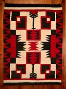 Spectacular Navajo Rugstrongandunique Graphic Negative Storm Patternexceltc1935