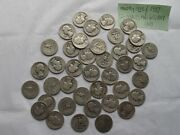 ..washington Quarter In Roll Of 40 Coins 1936 Thru 1937 And 1938 And 1941.