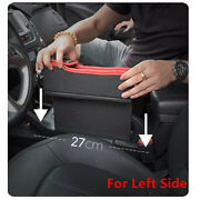Car Cup Holder Console Side Left Seat Gap Filler Storage With Coin Organizer 1pc