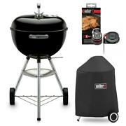 Weber Original Kettle Charcoal Bbq Grill Outdoor Combo W Cover Igrill Mini 18