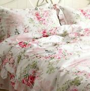 Fadfay Elegant And Shabby Floral Bedding Set Pink Rosette4 Pieces Duvet Cover S