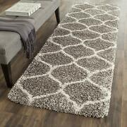 Safavieh Hudson Shag Collection Sgh280b Grey And Ivory Moroccan Ogee Plush Squar