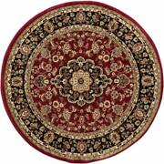 Well Woven Barclay Medallion Kashan Red Traditional Area Rug 3and03911 Round