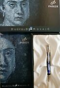 Parker Special Edition Blue Mosaic Duofold Ballpoint Pen New With Boxes/paper