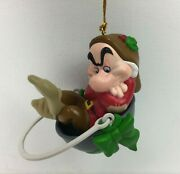 Vtg Grolier Collectibles Presidents Edition Grumpy Snow White Christmas Ornament