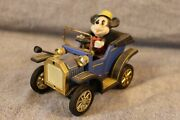 Mickey Mouse Wind-up Car 1981 Masudaya Japanese Vintage Toy Made In Japan D9