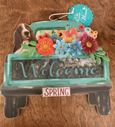 Nwt The Pioneer Woman Welcome Charlie Spring Truck Wall Decor Wood/metal Sign