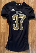 Notre Dame Football 2012 Shamrock Series chicago Game Used Jersey 37