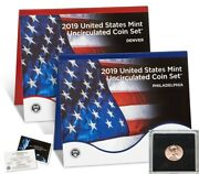 2019 U.s. Mint Uncirculated Coin Set W/ 2019 W First Uncirculated Lincoln Cent
