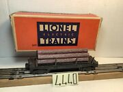 Vintage Lionel 3451 Automatic Lumber Car - Rubber Stamped Letters ,ob,insert