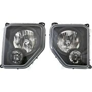 Headlights Lamps Set Of 2 Left-and-right 68079710aa 68079711aa Lh And Rh Pair