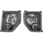 Headlights Lamps Set Of 2 Left-and-right 68079710aa, 68079711aa Lh And Rh Pair