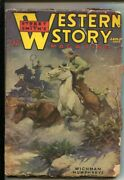 Western Story 1/25/1936 -stampede Cover By G.h. West-wild Bill Hickok Story-g/vg