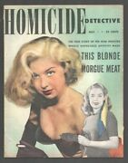 Homicide Detective 5/1951-spicy Cover-crime And Mystery Stories-posed Photos-ex...