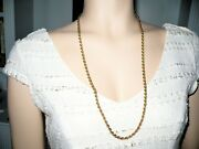 Vintage 14k Yellow Gold Rope Chain Necklace 28 Long 18.7 Grams 5mm Thick