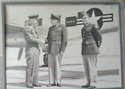 Large Photopgraph Of General Collins 7th Army D-day World War Ii Wwii Ww2