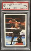 1987 Question Of Sport Mike Tyson Rookie Card🔥 Psa 9. Very Rare Low Pop Invest