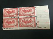 Us Stamp 1120 4c Overland Mail, Plate Block Of 4 Mnh Free Shipping