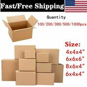 100-1000 Premium Cardboard Paper Boxes Mailing Packing Shipping Box 8x6x4/ 6x6x6