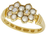 Pearl And Diamond 18ct Yellow Gold Dress Ring - Antique 1871