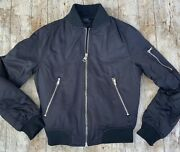Topshop Bomber Jacket Womens Black Weighted Uk 6 Petite Heavy Quality Satin