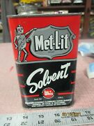 Met-l-it Solvent Whiz Hollingshead 16 1/2 Oz Can Station Oil Can Nice Graphics