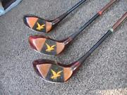 Rare Antique Gold Smith Golden Eagles Fancy Face Wood Set Early 1930s