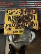 1973andrsquo Posted peppered Sign No Hunting Sign Vintage Farm Sign