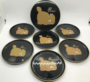 Vintage Otagiri Wet Your Whiskers Cat Kitten Set Of 6 Coasters And Case Gibson