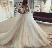 Beach Weddings Party Dress Princess Puffy Tulle Beading Lace Up Off The Shoulder