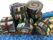 120 2.5 Pre Cut Jelly Roll Quilt Quilting Strips 100 Cotton Eclectic Fabric