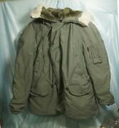 Nice Green U.s. Air Force N-3b Extreme Cold Weather Parka Sz Xl