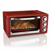 6 Slice Toaster Convection/broiler Oven | Red - Free Shipping