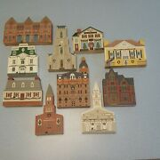 The Cats Meow Village Large Lot 10 Mixed Christmas Houses