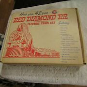 Vintage Tootsietoy Strombecker Dx Red Diamond Ho Freight Train Set Box Only