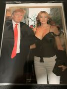 President Donald Trump Inauguration Silver And Red Ticket Tickets Photo W/ Melania