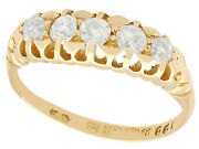 Antique 0.65 Ct Diamond And 18k Yellow Gold Dress Ring - Victorian