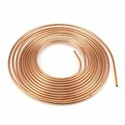 25ft 7.62 M Zinc Steel Nickel Brake Line Tubing Kit Coil Roll And Tube Nut Fitting
