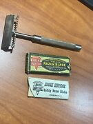 Vintage Keen Kutter Safety Razor W/ Box Of Extra Blades