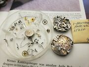 Vintage Group Of Gallet Chronograph Ep42 Movement Parts