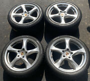 Porsche 19and039and039 Wheel Rim+ Winter Tire With Center Hub Cap Set With Nice Condition