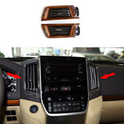 For Toyota Land Cruiser 2016-2021 Wood Grain Middle Air Outlet Vent Cover Trim
