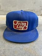 Vintage Frito Lay Trucker Hat Mesh Usa Made Blue Patch Not K Products