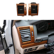 For Toyota Land Cruiser 2008-2021 Wood Grain Landr Ac Air Outlet Vent Cover Trim