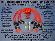 Tune Up Mercruiser 7.4l Mpi 1998-2001 Spark Plugs Wires Distributor Cap Rotor