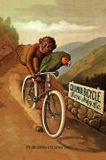 Bicycle Bike Cycle Columbia Monkey Parrot Heavenly Time Poster Repro Free S/h