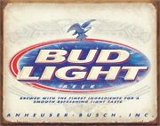 Bud Light Retro Metal Tin Sign Beer Bar Lounge Pub Game Room Man Cave Home Gift