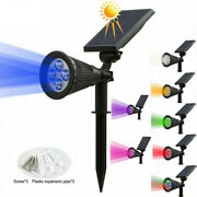 Solar Charged Led Spot Light Outdoor Garden Lawn Landscape Bulb Fence Wall Lamp